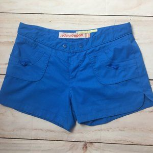Powder Room Blue Relaxed Fit Casual Workout Shorts